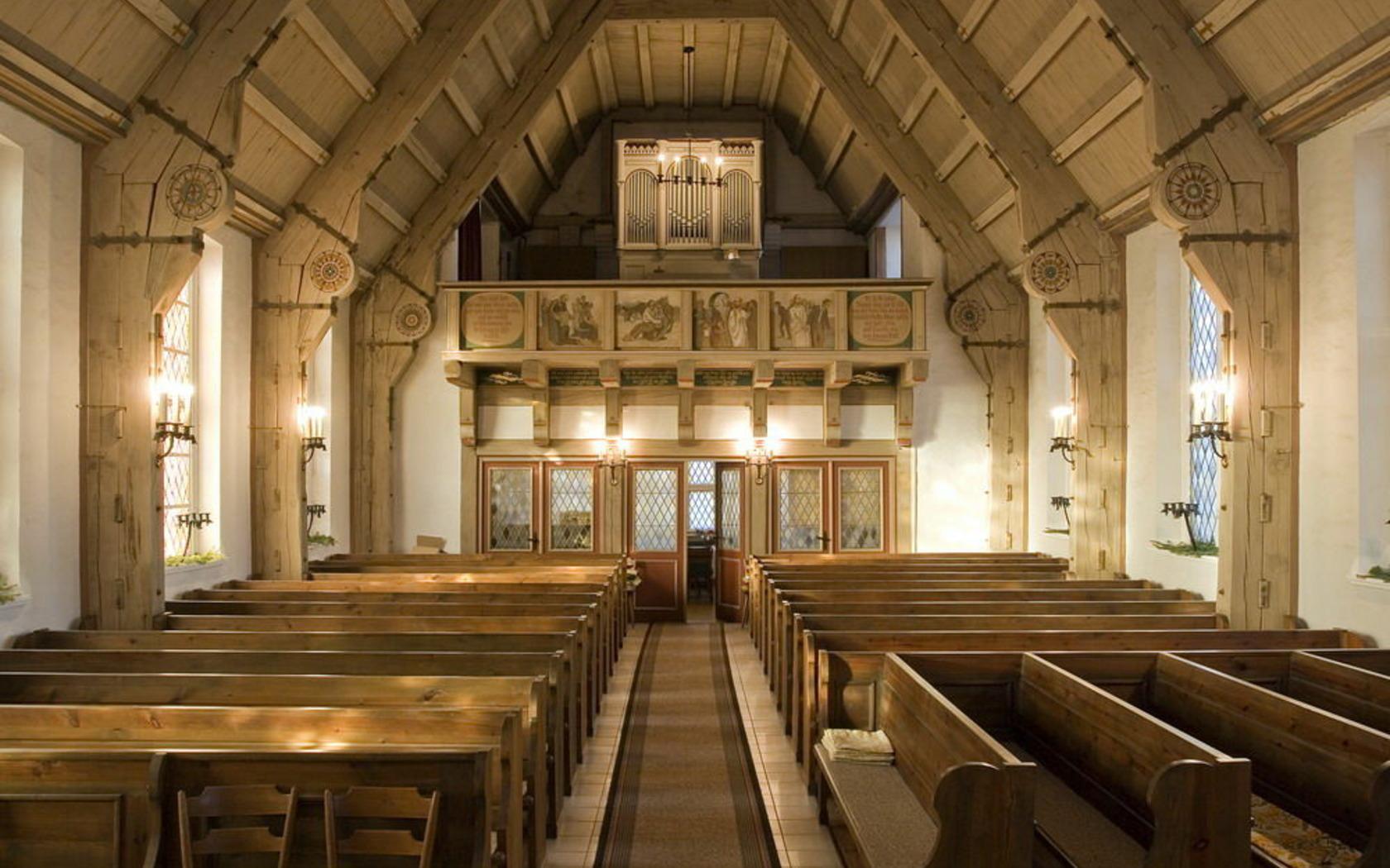 Innenraum Kirche Kerkwitz, Foto: Katharina Riedel