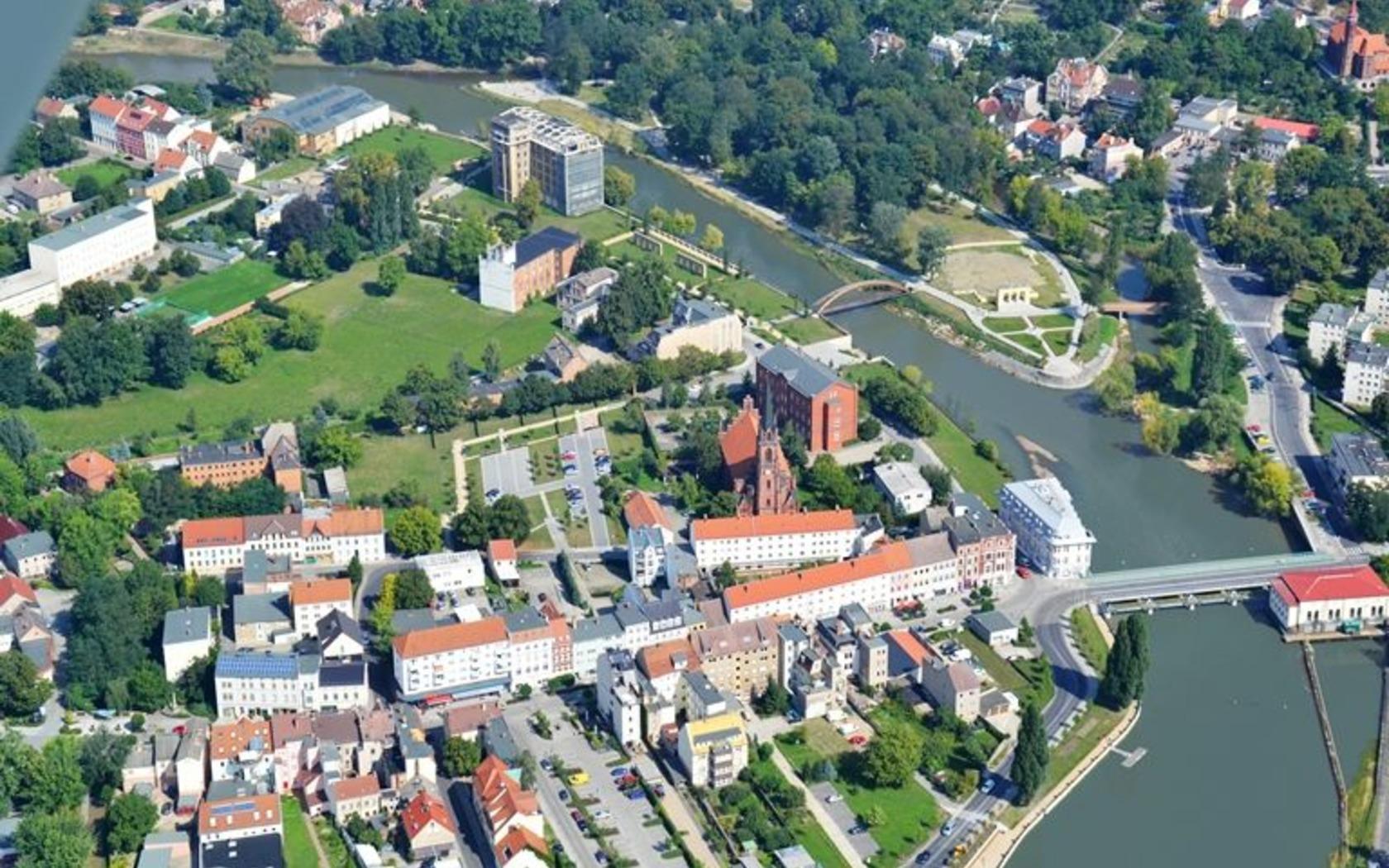 Luftbild Guben, Foto: MuT Guben