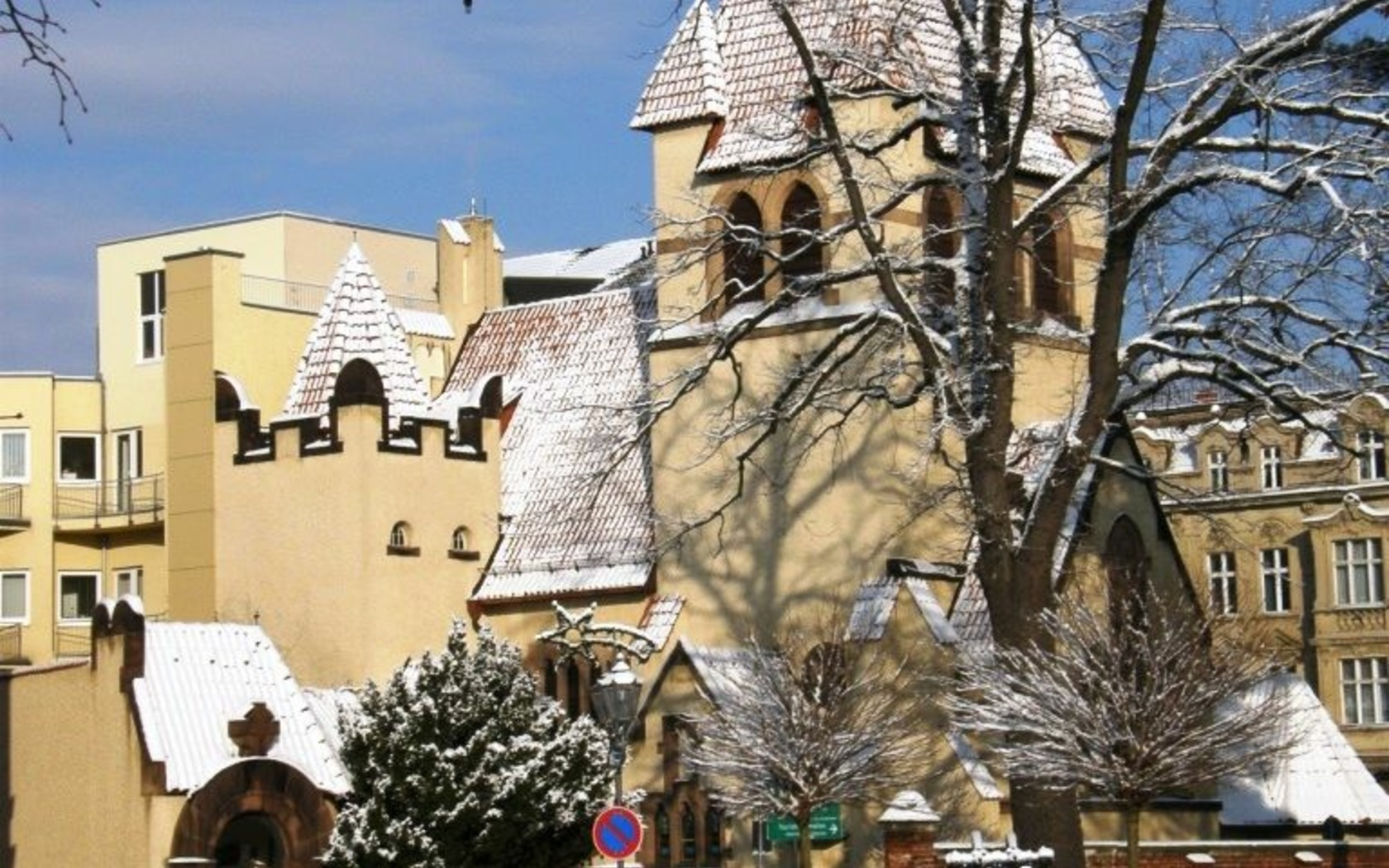 Kirche des Guten Hirten im Winter, Foto: Marketing und Tourismus Guben e.V.