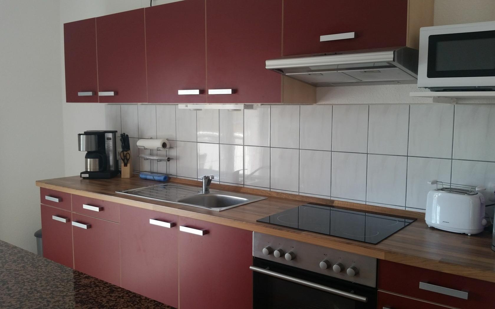 Ansicht Küchenbereich FeWo, Foto: MuT Guben