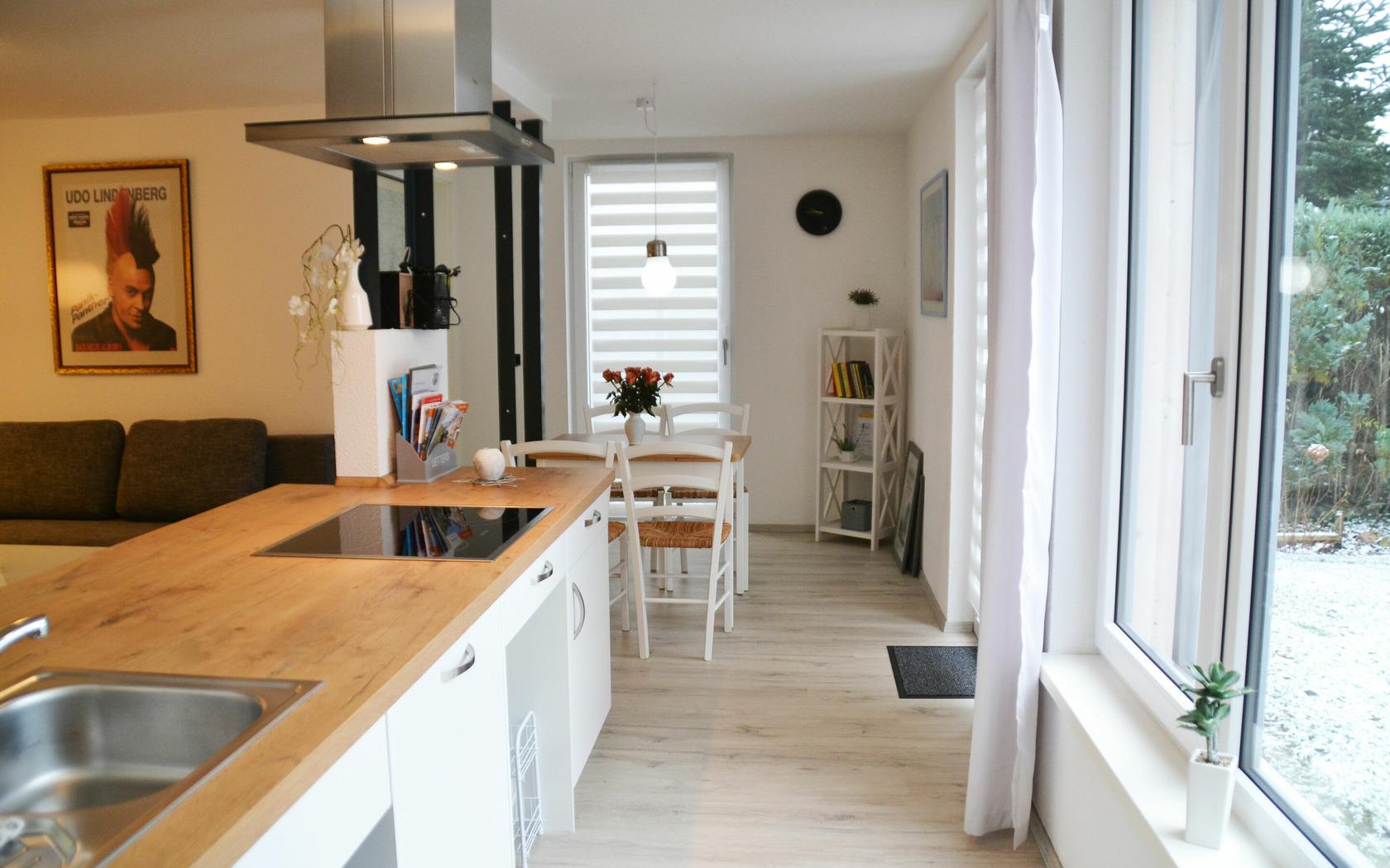 Ferienhaus Kerkwitz offener Koch-/Wohnbereich, Foto: MuT Guben