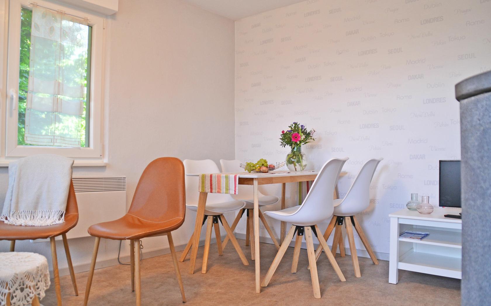 Ferienhaus Gartenidyll Essbereich, Foto: MuT Guben