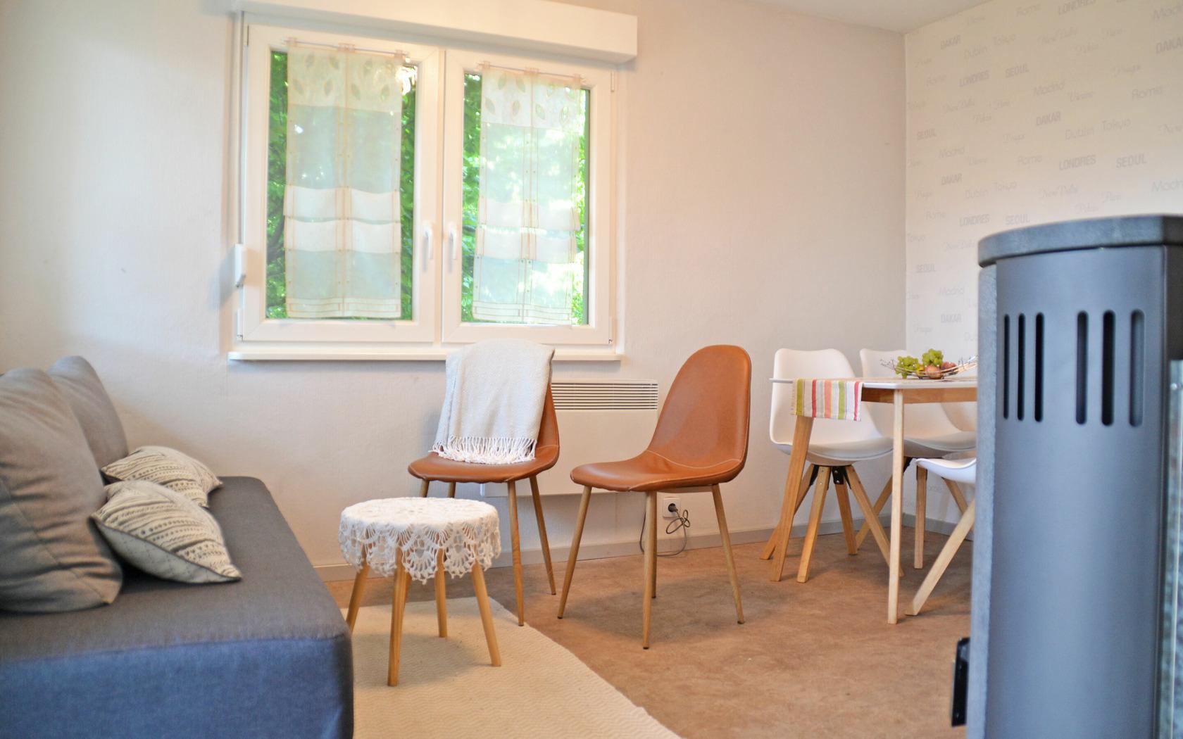 Ferienhaus Gartenidyll Wohn-/Essbereich, Foto: MuT Guben