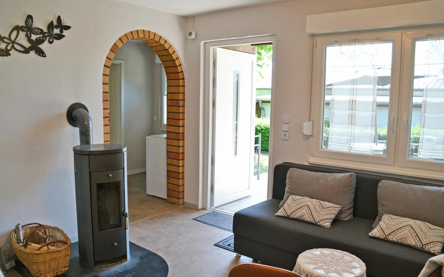 Ferienhaus Gartenidyll Wohnbereich, Foto: MuT Guben