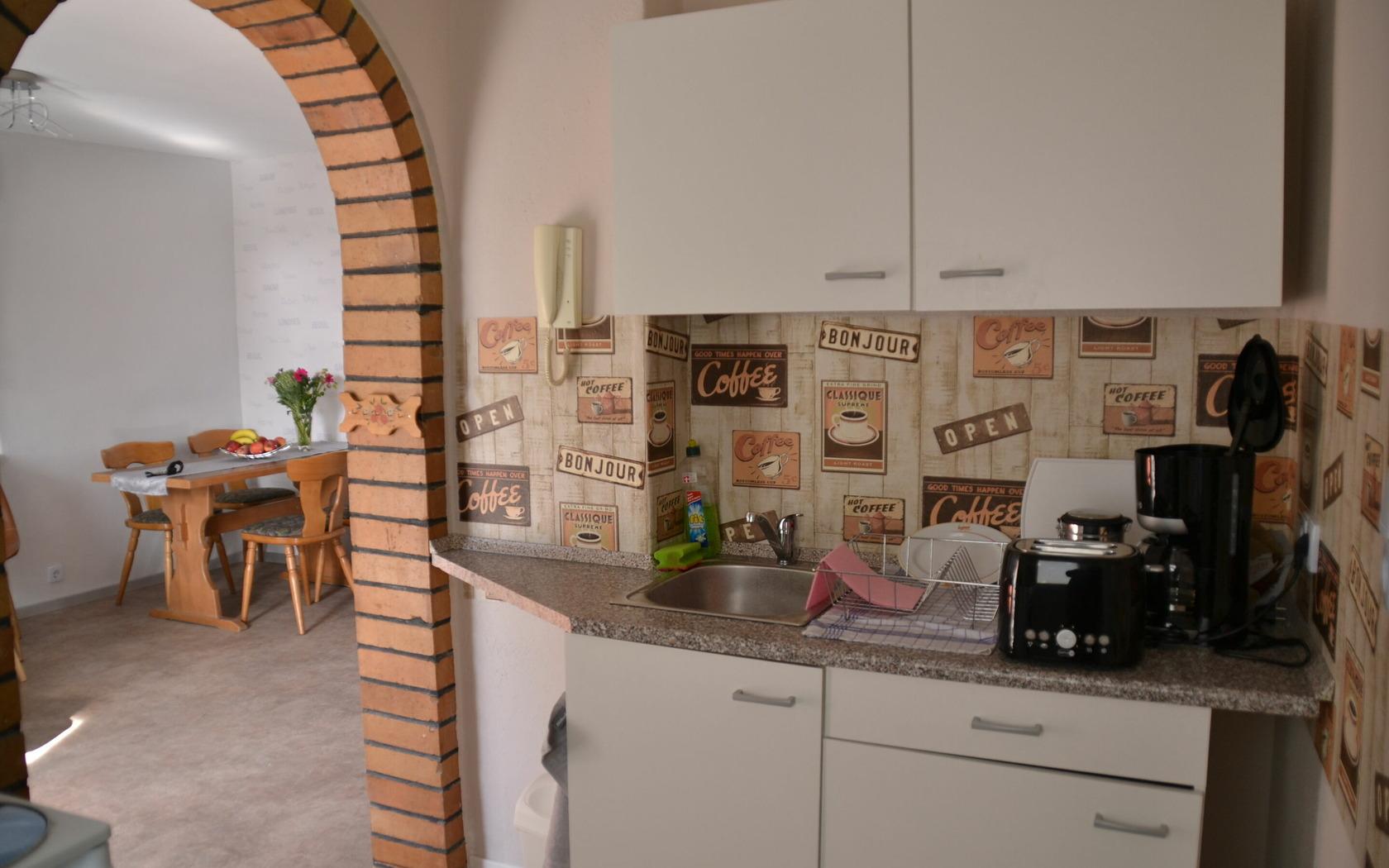 Ferienhaus Gartenidyll Kochbereich, Foto: MuT Guben