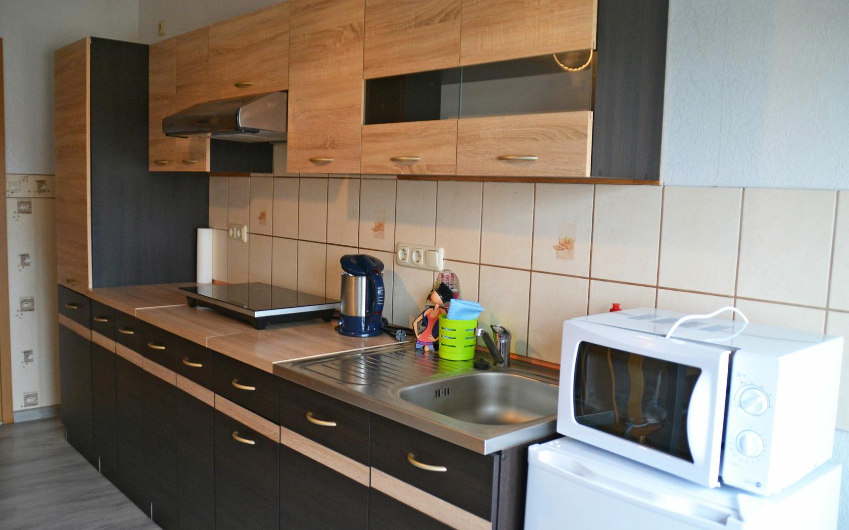 Ferienwohnung Wiesenblick Küchenbereich, Foto: MuT Guben