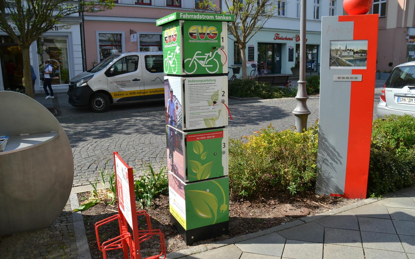 E-Bike-Ladestation, Foto: MuT Guben e.V.