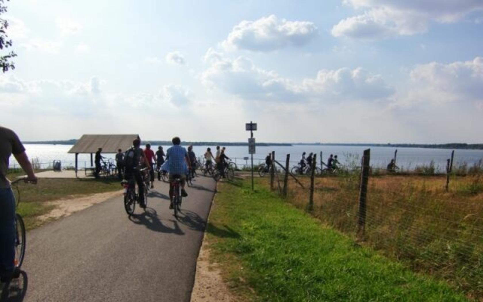 Niederlausitzer Bergbautour (510 km), Am Senftenberger See, Foto: Wieck