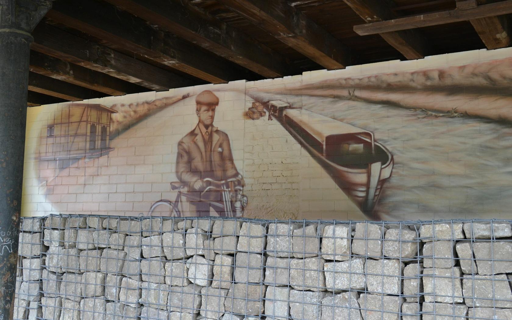 Mosaik am Alten Hafen, Foto: Marketing und Tourismus Guben e.V.