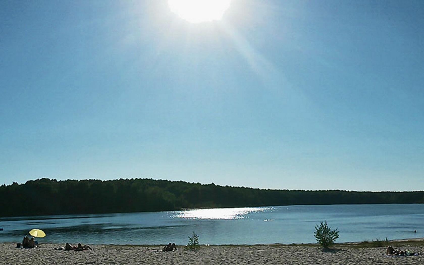 Großsee bei Sonnenschein, Foto: Amt Peitz