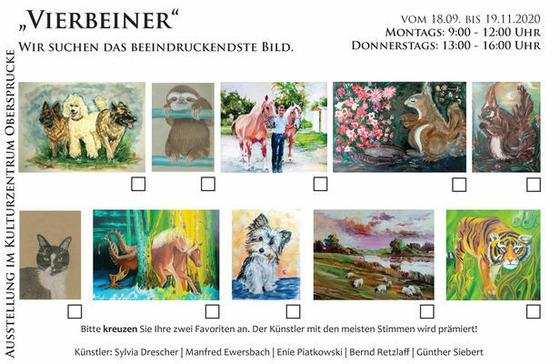 Ausstellung Vierbeiner, Foto: Kulturzentrum Obersprucke