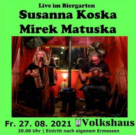 Susanna Koska und Mirek Matuska, Foto: Volkshaus Guben, Lizenz: Volkshaus Guben